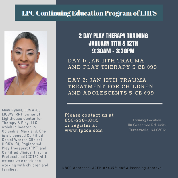 play therapy 2 day conference january 11-12, 2018 – lpc continuing ...